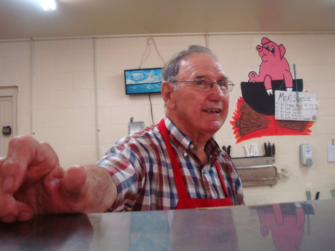 T-Jim Moreau At His Butcher Shop In Cottonport Louisiana