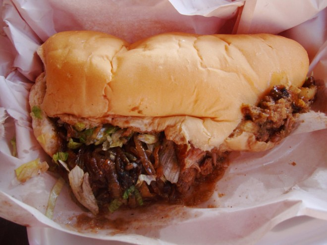 A Pork Routee Po Boy At 2016 French Food Fest In Larose Louisiana