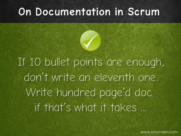 just enough documentation