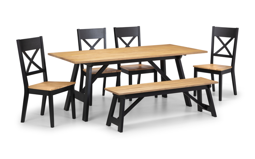 Marylebone Dining Table Bench 4 Chairs