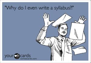 Why Write a Syllabus