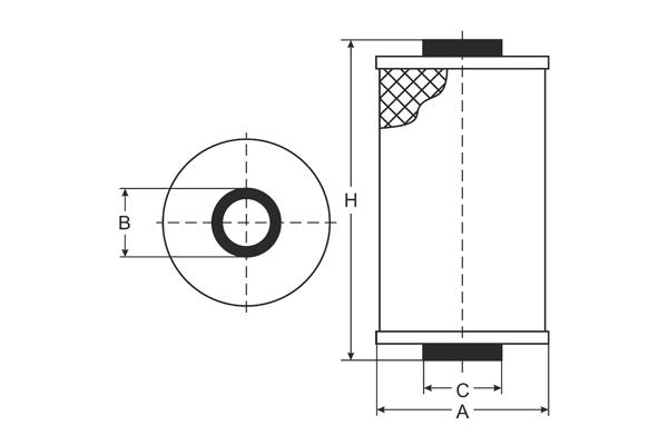 SC 7040 Fuel filter SCT