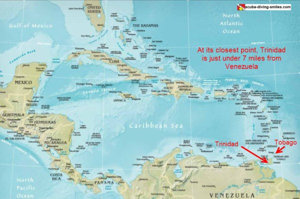 Map Of Trinidad And Tobago Where Are These Islands Located