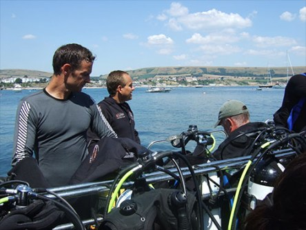 Getting the kit set up before the dive