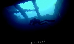Inside the wreck