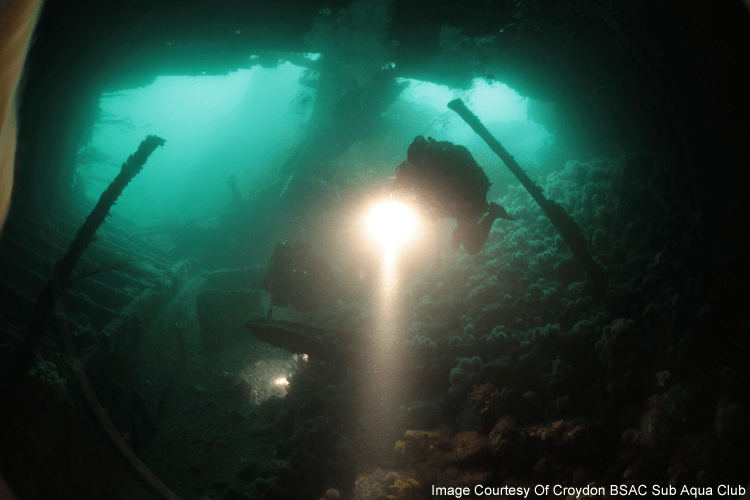Courtesy Croydon BSAC Club - Scapa Flow Wreck 2