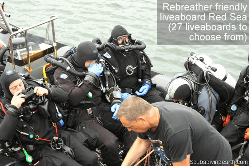 Rebreather friendly liveaboard Red Sea (27 liveaboards to choose from)