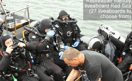 Rebreather friendly liveaboard Red Sea - 27 Red Sea liveaboards to choose from