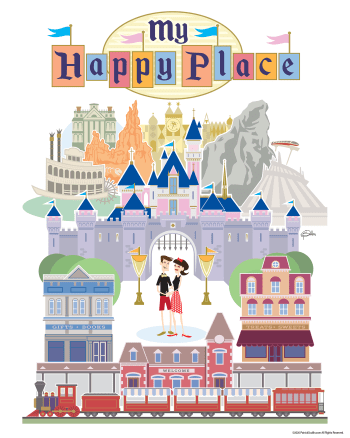 My Happy Place Disneyland Tribute Poster