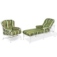 Striped Wrought Iron Indoor Outdoor Furniture | Other ...
