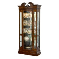 Mahogany Curio Cabinet with Light | Cabinets & Cupboards ...