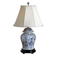 English Style Blue and White Porcelain Lamp | Table & Desk ...