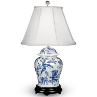 Bird and Lily Porcelain Table Lamps | Table & Desk Lamps ...