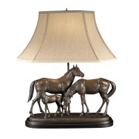 Horse Family Lamp and Sculpture | Table & Desk Lamps ...