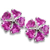 Pink Topaz Sand Dollar Earrings