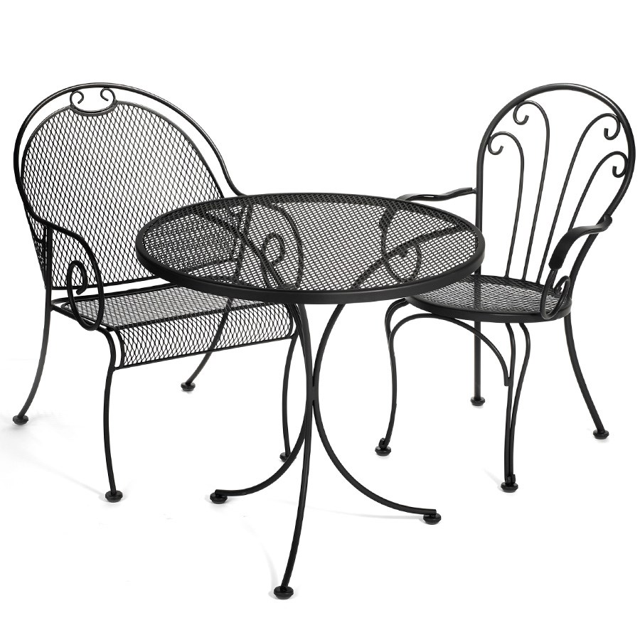 Black Wrought Iron Indoor Outdoor Furniture  Other Small