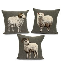 Tapestry Sheep Pillows | Pillows | Home Decor Accessories ...