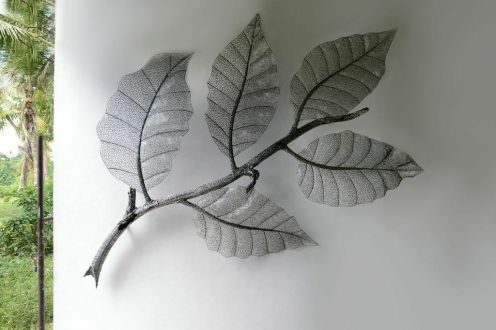 Coffee Leaves sculpture by Lachlan Ross