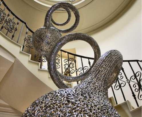 spiral stainless steel sculpture