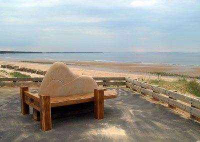Sand-dune feature bench for Roseisle Beach