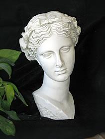 SPLENDID ANCIENT GREECE FACE OF BEAUTY SCULPTURE STATUE