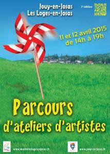 Affiche Parcours d'atelier d'artistes, 2015, Jouy en Josas