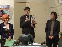 Françoise Frugier Présidente du SVAIF, François de Mazieres, Député-Maire de Versailles, Emmanuelle de Crepy, adjointe au Maire et déléguée à la culture