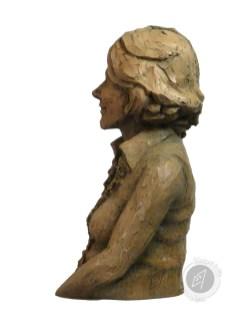 """""""Buste de femme"""" 2017 (argile patinée)"""