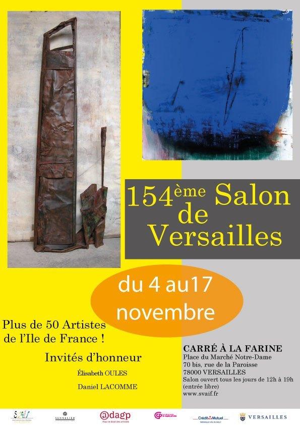 Affiche SVAIF : 154e salon de Versailles