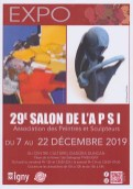 Affiche APSI : 29e salon d'art d'Igny