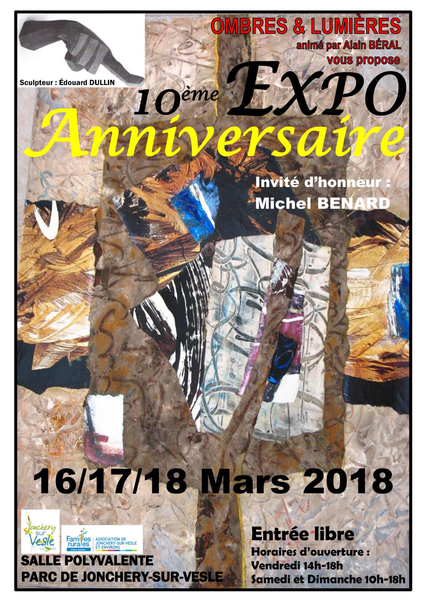 affiche 10e expo ombre et lumière 2018