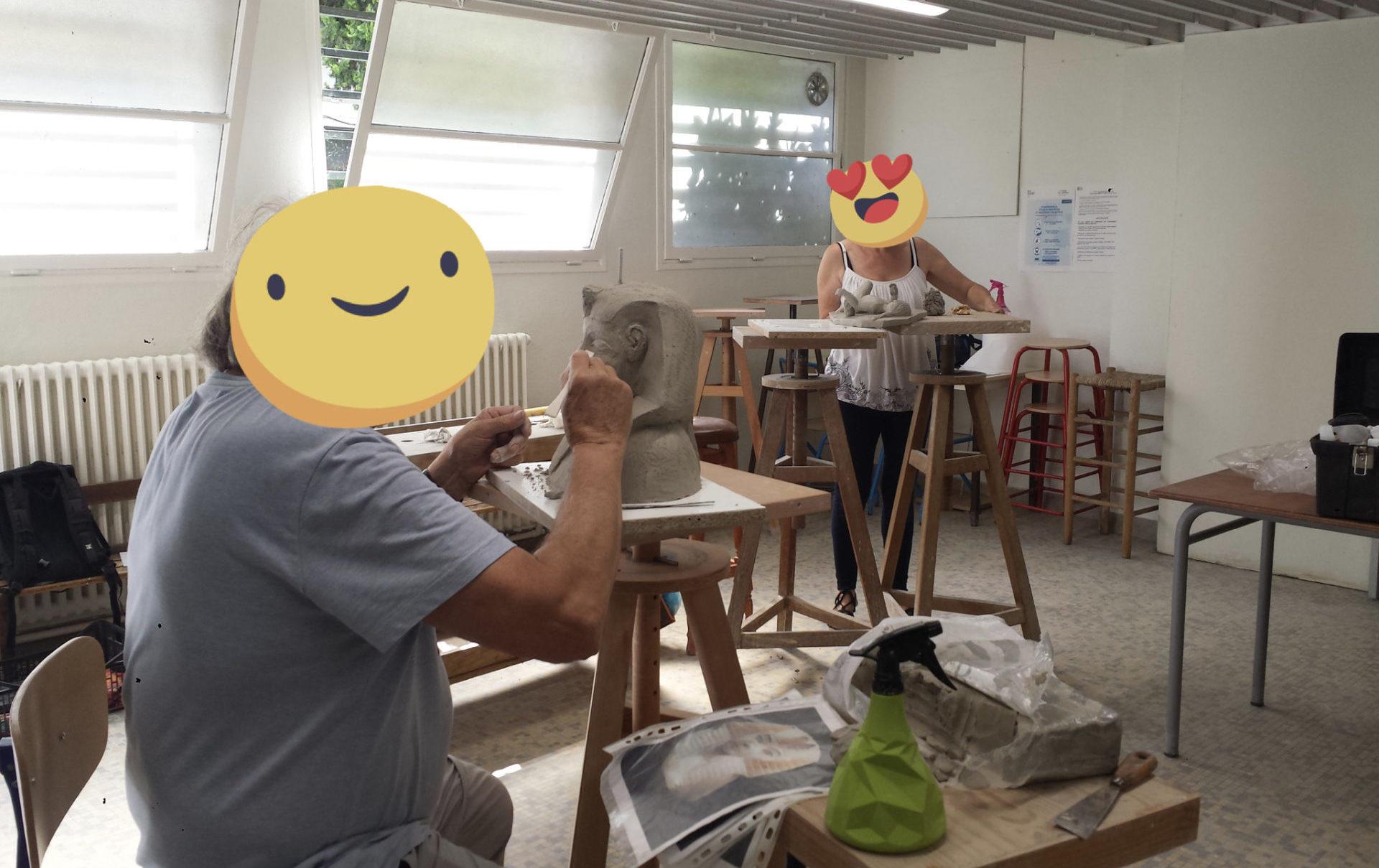 atelier sculpture adultes modelage argile