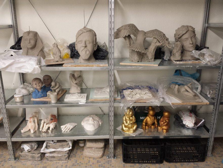 les sculptures des adultes