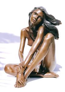 Ballerina cm.27x27x15 anno 2001 - statua donna ballerina sculture statue donne statuine statuette ballerine in bronzo
