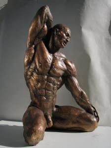 Ballerino cod.81 cm.87x52x26 anno 1997 - statua uomo ballerino sculture statue uomini statuine statuette ballerini in bronzo