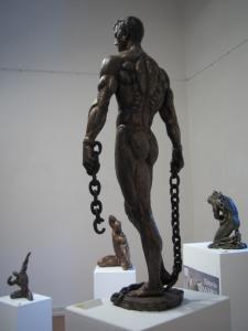 ''Cavallo sauro'' cm.52x61x21 anno 1991 - scultura cavallo, statua cavallo, statue di animali, sculture di animali, statue di cavalli, statue animali per giardino