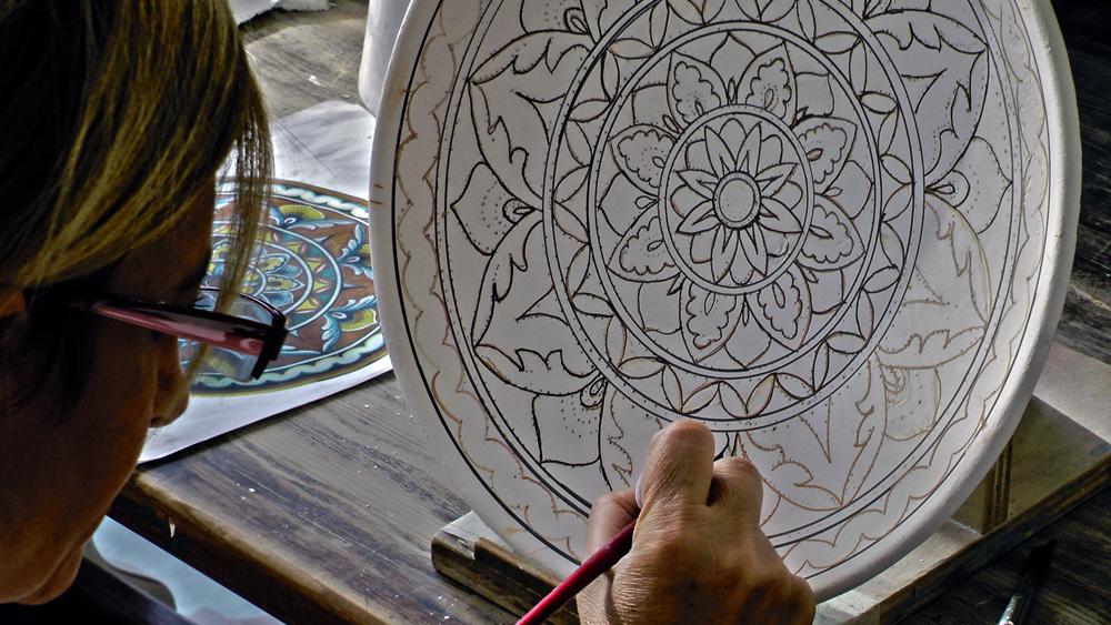 decorazione della ceramica