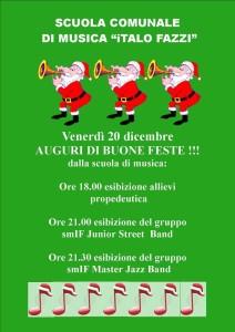 Manifesto della serata musicale delle vacanze di Natale 2013