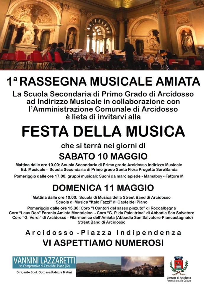 Immagine della locandina della Festa della Musica