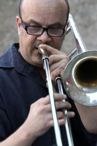 Immagine del trombonista Mario Corvini