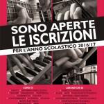 Manifesto per l'apertura delle iscrizioni alla scuola di musica italo fazzi per il 2016 - 2017