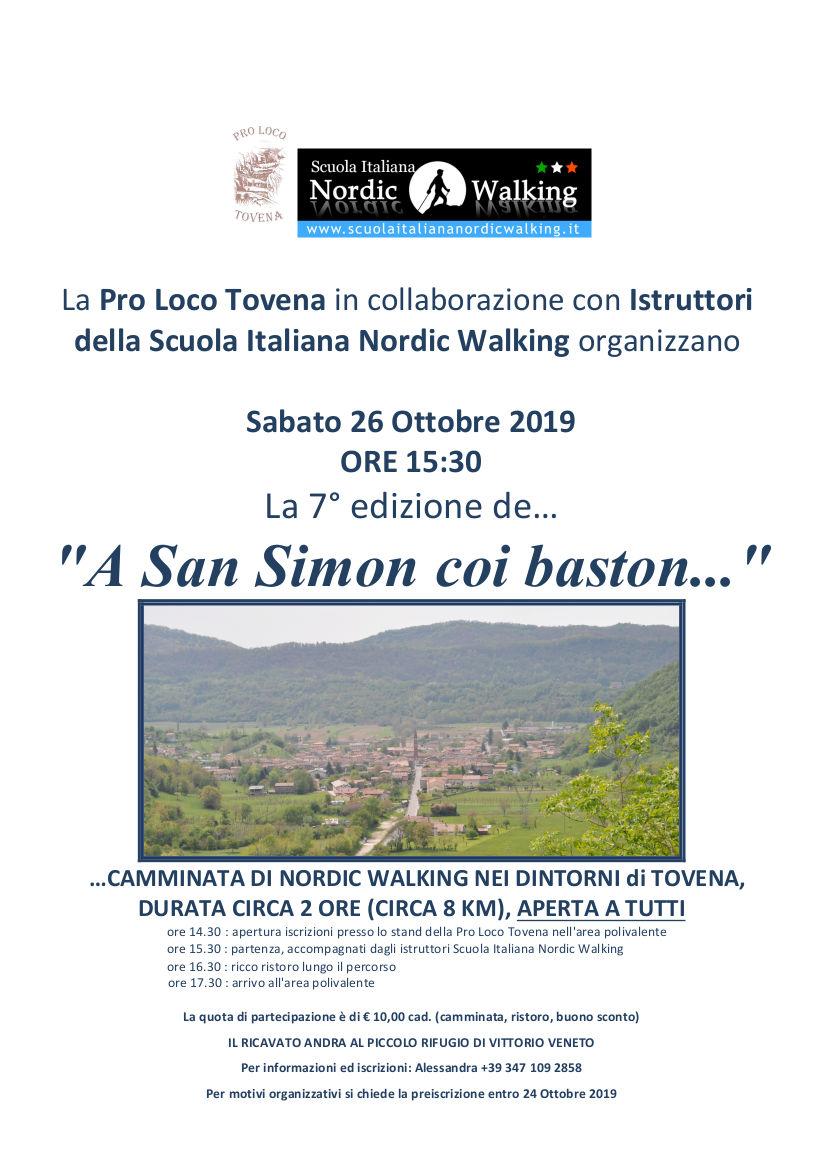 A San Simon coi Baston: camminata di Nordic Walking di beneficienza – 26 ottobre 2019