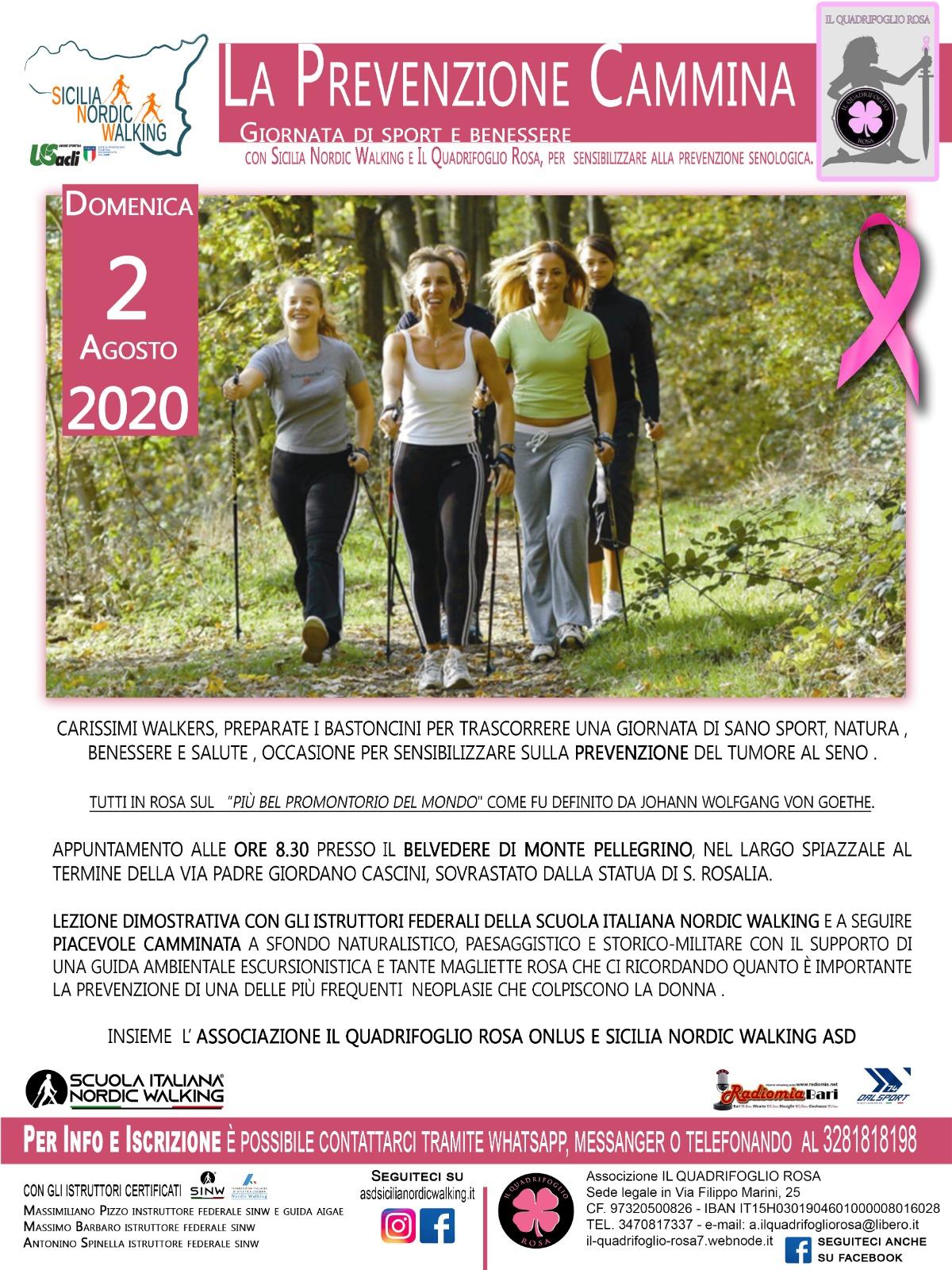 """Il 2 agosto prossimo, tutti a Palermo per """"la Prevenzione Cammina"""""""