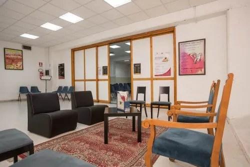 sala d'attesa visuale sinistra