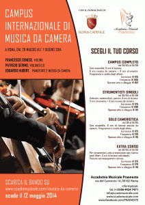 francesco senese violino - musica-da-camera-poster-campus