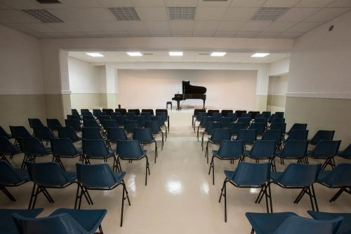 Sala concerti con pianoforte - auditorium