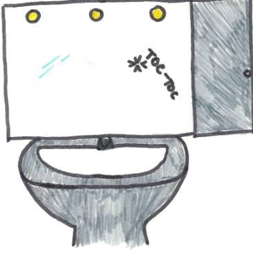 Un toc toc esce dall'amadietto del bagno...