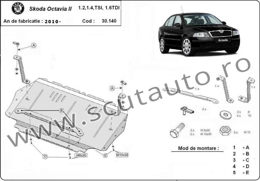 Scut auto Skoda Octavia 2