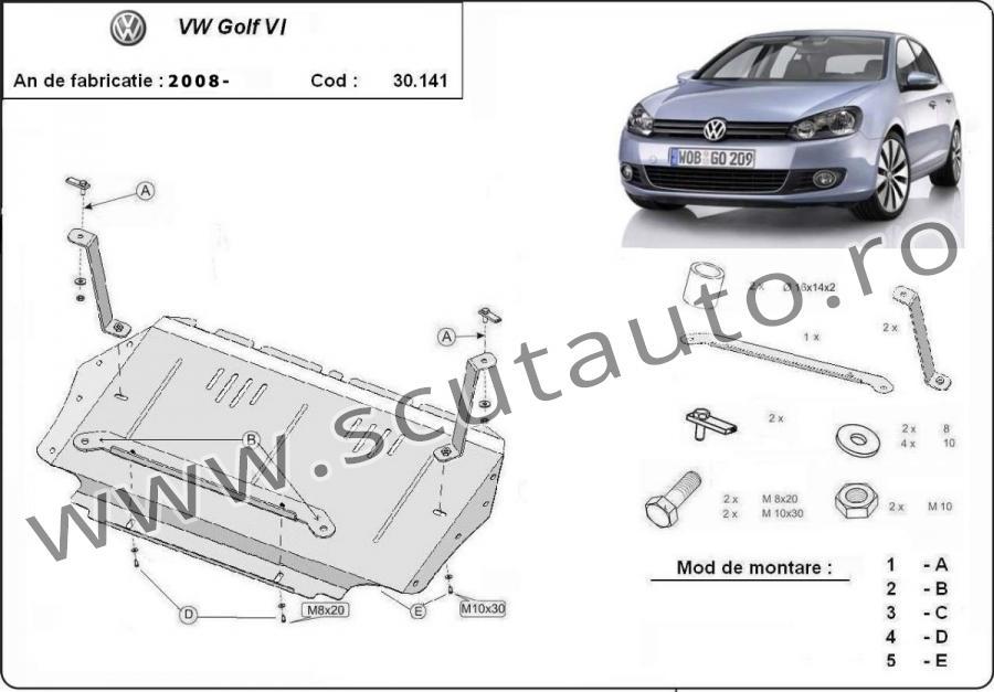 Scut auto VW Golf 6