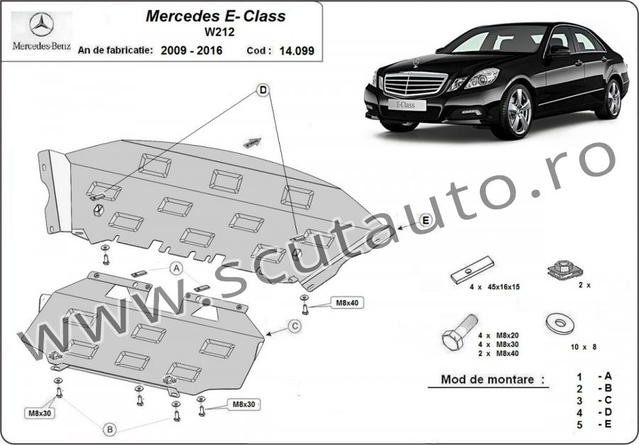 Scut auto Mercedes E-Class W212